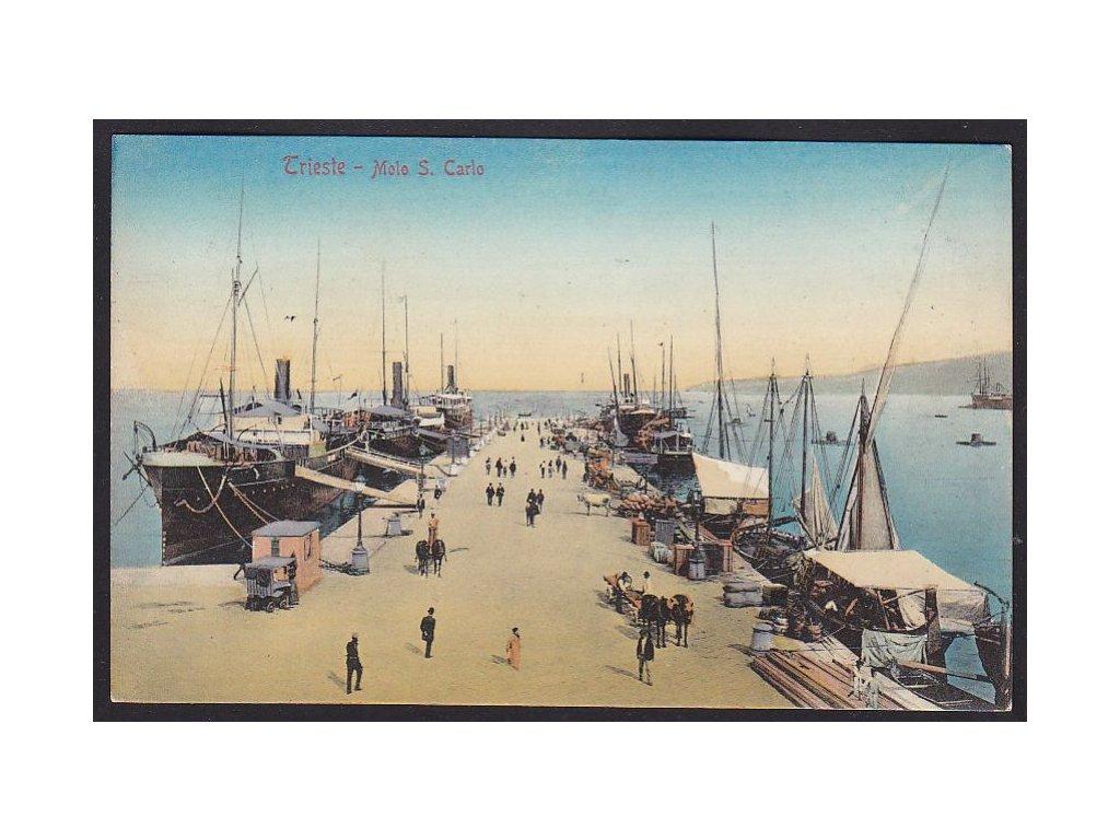 Italy, Trieste, pier S. Carlo, cca 1900