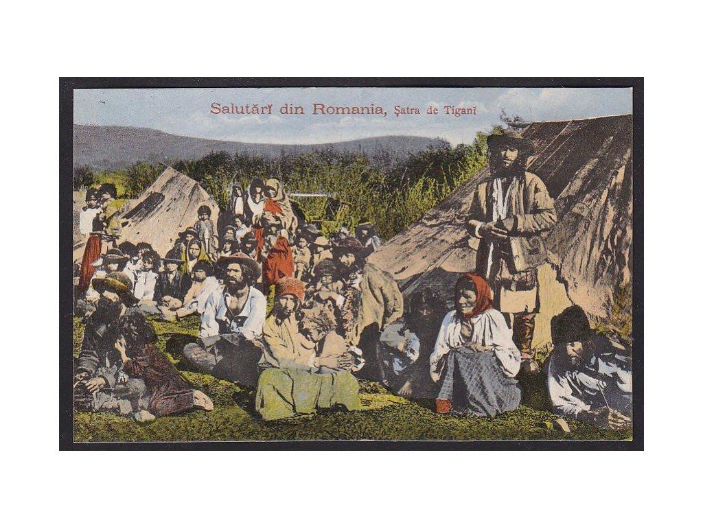 Romania, Salutari din Romania, gypsies, cca 1908