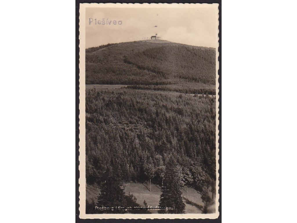 25 - Karlovarsko, Krušné Hory, Plešivec (Plessberg), nákl.Landgraf, cca 1940