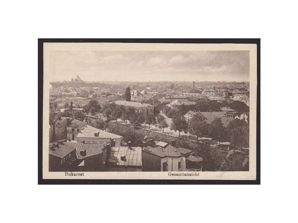 Romania, Bucharest, panorama, cca 1915