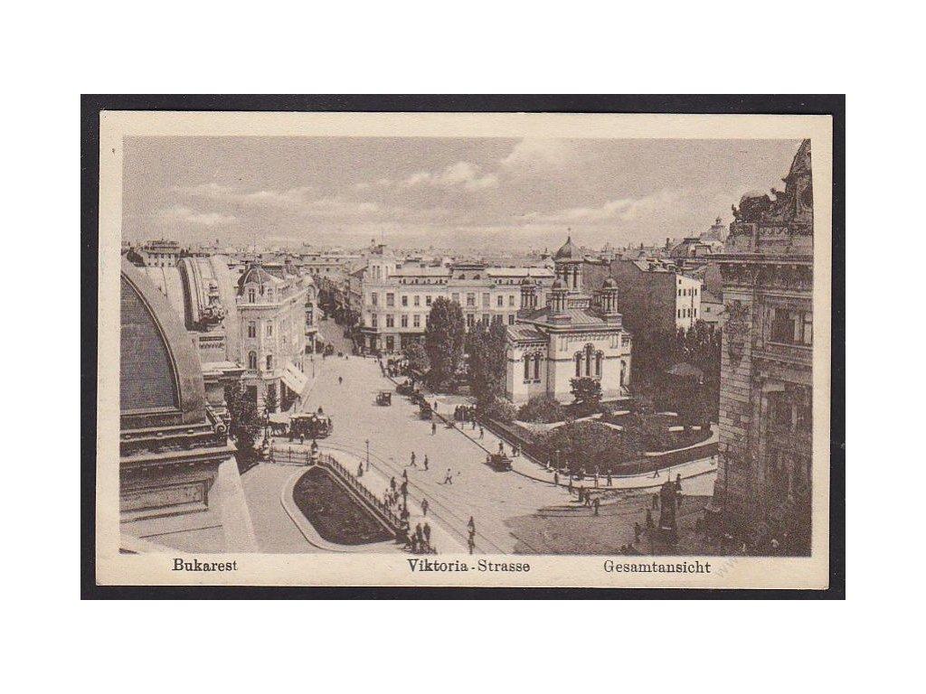 Romania, Bucharest, Viktoria Street, panorama, cca 1915