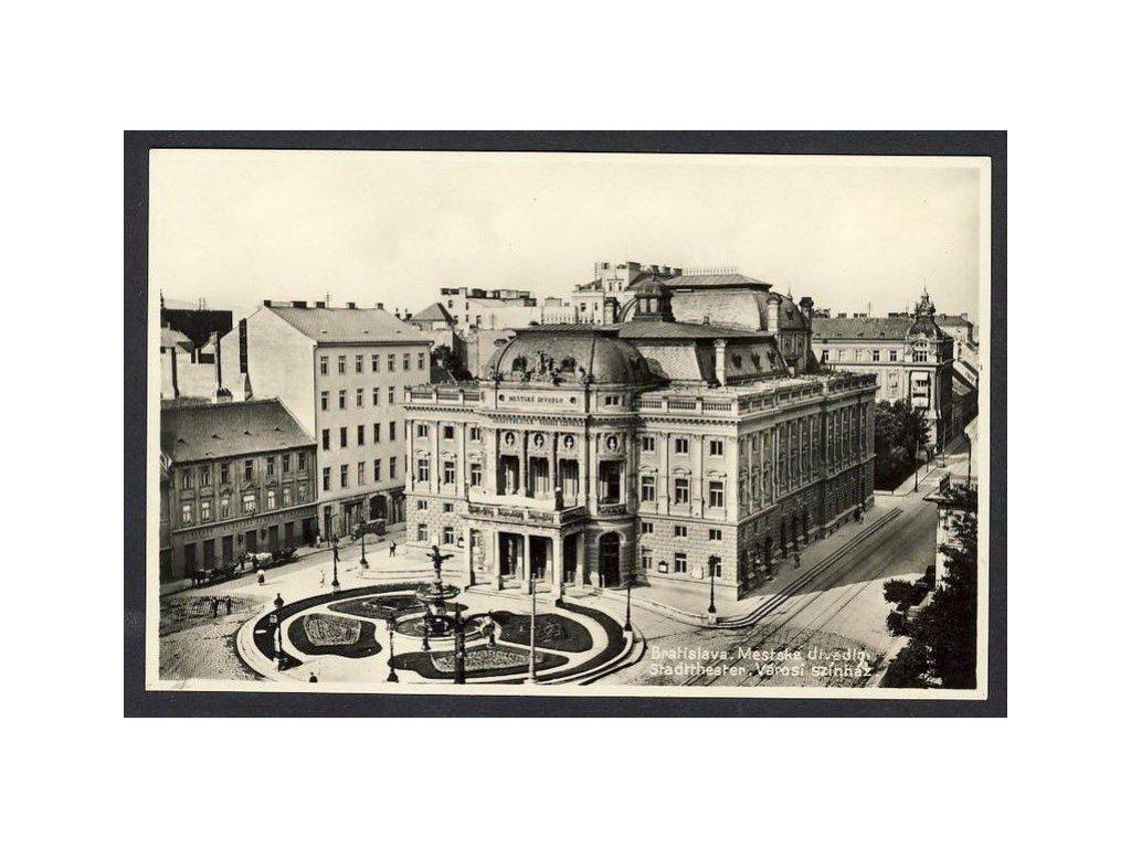 Slovensko, Bratislava -Mestke divadlo, ca 1930