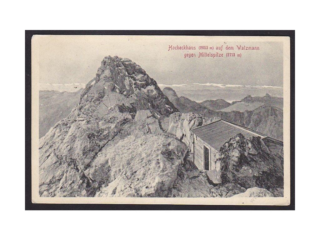 Germany, Bavarian Apls, Watzmann with Hocheck and Mittelspitze, cca 1910