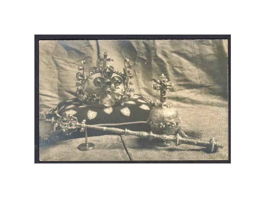 Korunovační klenoty ze sbírky Svatovítského pokladu, ca1915