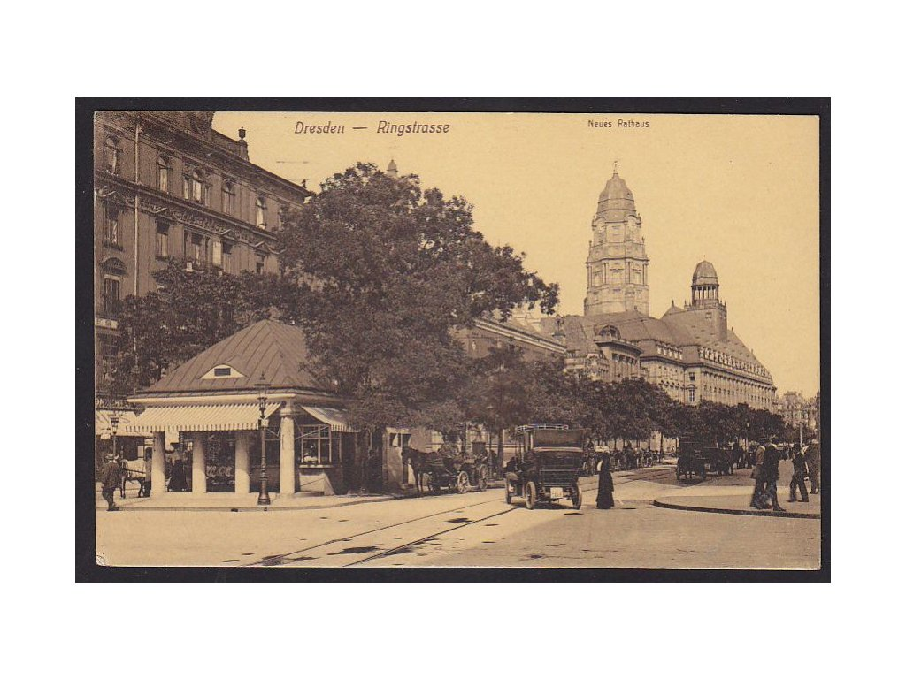 Germany, Free state of Saxony, Dresden, Ring Street,  new town hall, cca 1915