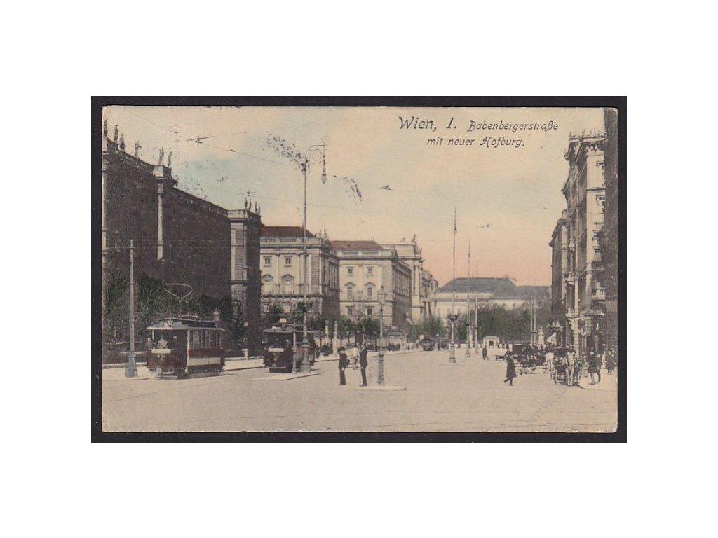 Austria, Vienna, Babenberge Street with Hofburg Palace, cca 1912