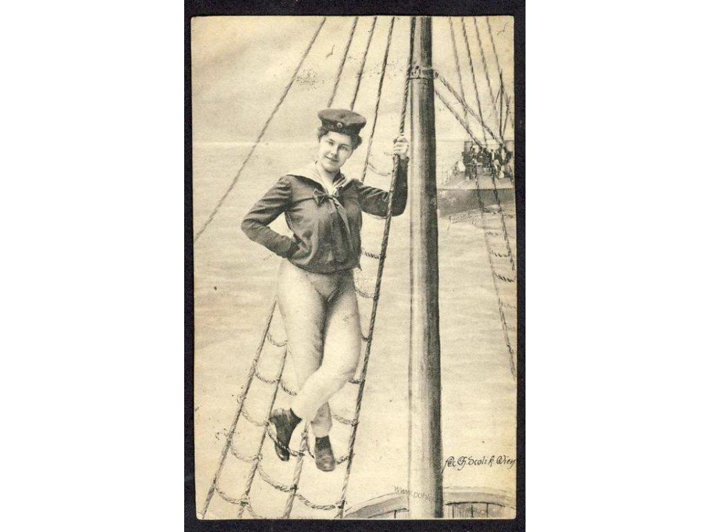 Námořník v lanoví, ca 1902