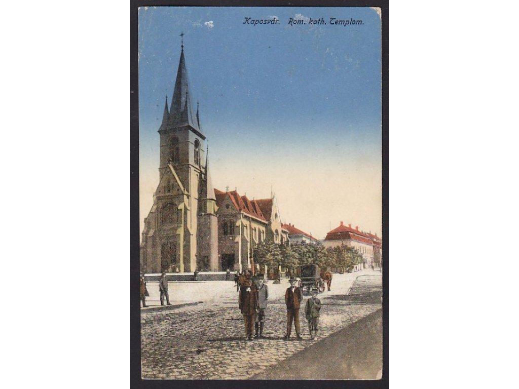 Hungary, Somogy, Kaposvár, Catholic Church, cca 1918