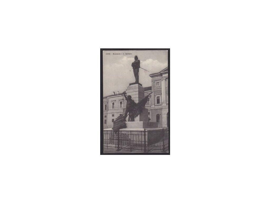 Italy, Friuli-Venezia Giulia, Udine, Monument of G. Garibaldi, cca 1911