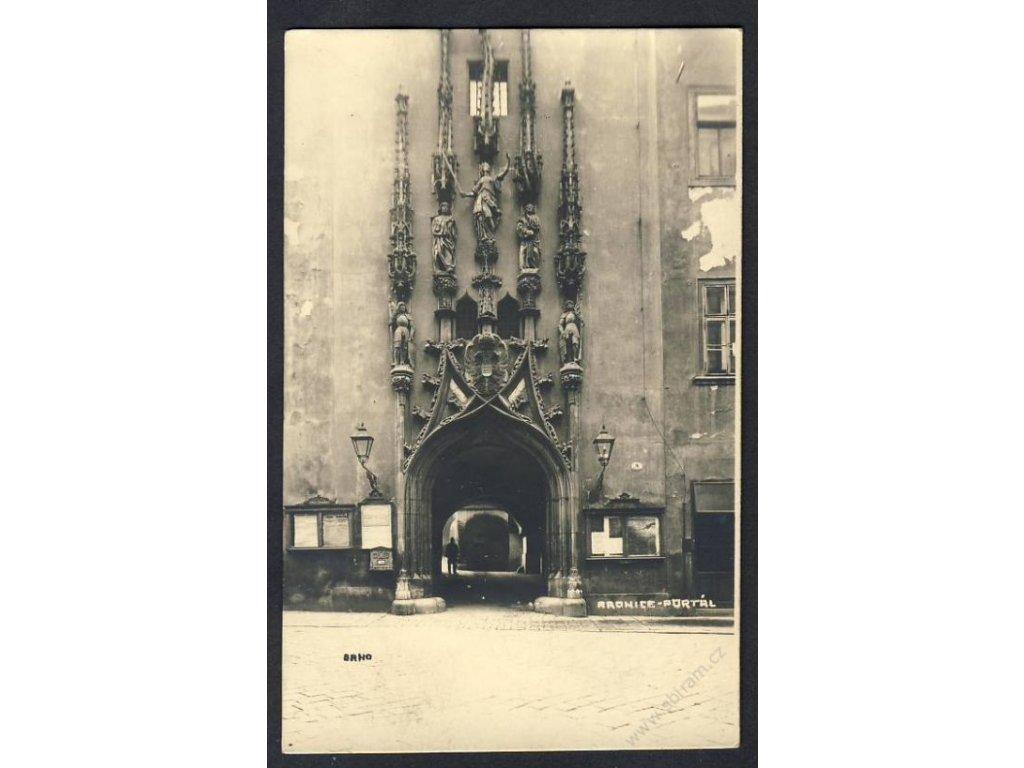 04 - Brno-město, radnice, portál, cca 1929
