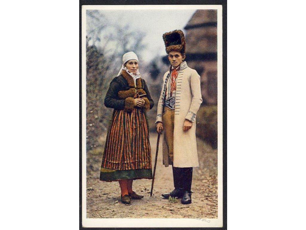 Muž a žena z Litomyšlska, ca 1930