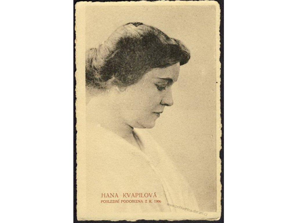 Hana Kvapilová, ca 1918