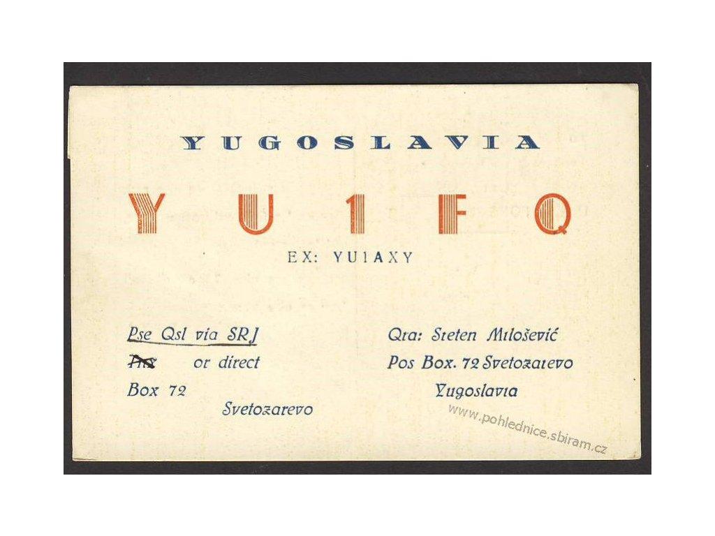 Pohlednice radioamatérů, ca 1954