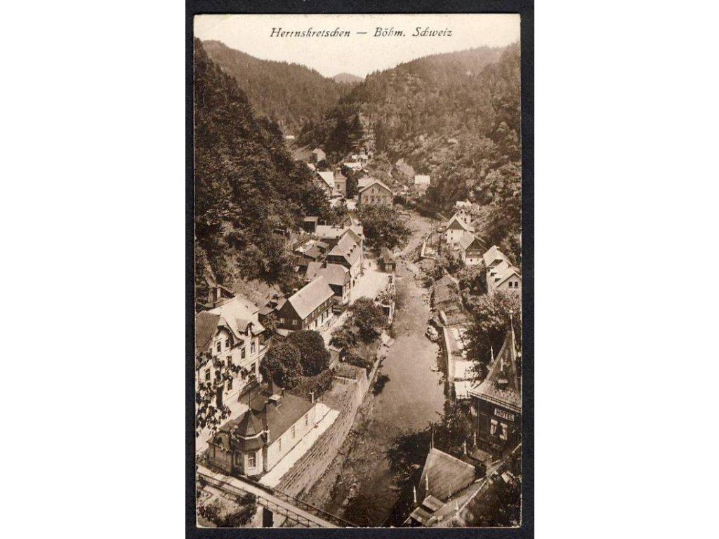 14 - Děčínsko, Hřensko, České Švýcarsko (Böhm. Schweiz), nakl. A. Keil, cca 1930