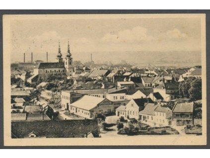 41-Olomoucko, Kojetín, Partie s kostelem, cca 1948
