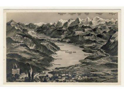 Švýcarsko, Thunské jezero (Thunersee), ca 1928