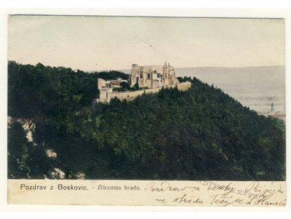 03- Blansko, Boskovice, zřícenina hradu, ca 1905