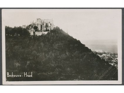 03 - Blansko, hrad Boskovice, ca 1946