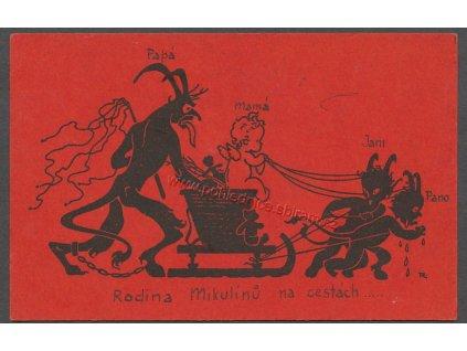 Mikulášská pohlednice, ca 1930