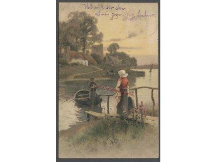 Na loďce, ca 1907