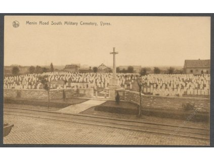 Belgium, Ypres, South Millitary Cemetery, ca 1930