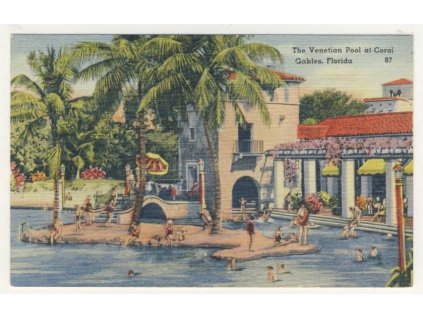 USA, Florida, Coral Gables, Venetian Pool, ca 1925