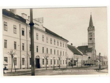 Croatia, Zagreb, Vlaška st., war hospital, ca 1920