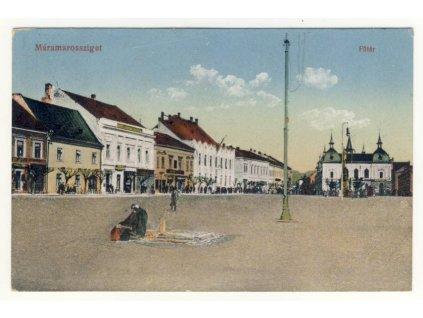 Romania, Sighetu Marmatiei, Main square, ca 1915