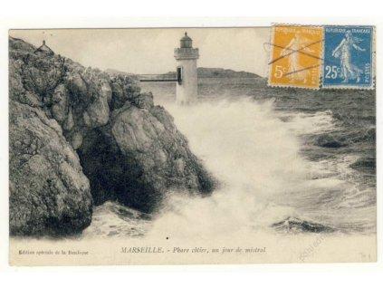 France, Marseille, coast lighthouse, ca 1922