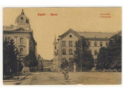 Croatia, Zagreb, university, ca 1908