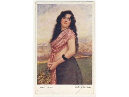 Cikánská kráska, Josef Ženíšek, ca 1915