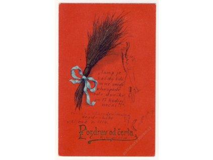 Pozdrav od čerta s básničkou, ca 1930