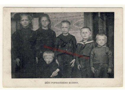 Propaganda, Děti popraveného Kudrny, cca 1915