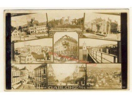 20 - Jablonec nad Nisou, 9 - ti záběr dominant města, cca 1930