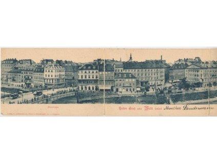Österreich, Besten Gruss aus Wien, Panorama, cca 1899