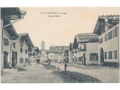 Österreich, Mittenwald a. Isar, Oberer Markt, cca 1908