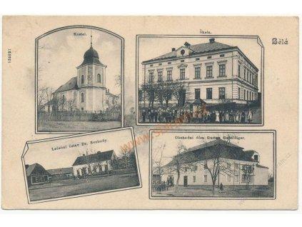 36 - Mladoboleslavsko, Bělá p. Bezdězem, 4 - záběr dominant, cca 1915