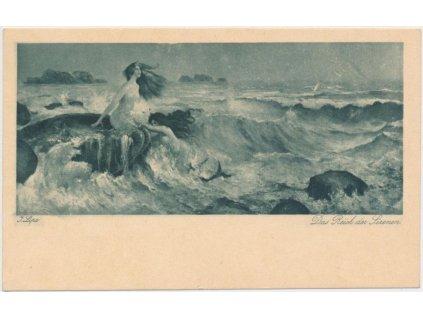 Akty, sestava 5 ks pohlednic, cca 1925