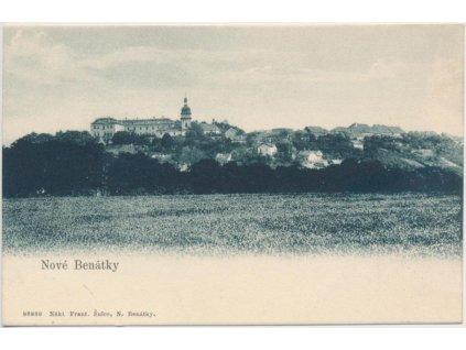 36 - Mladoboleslavsko, Nové Benátky, celkový pohled, cca 1900