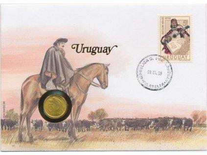 Uruguay,mincovní dopis o rozměru 12,7 x 17,7 cm,1998,sběratelský stav