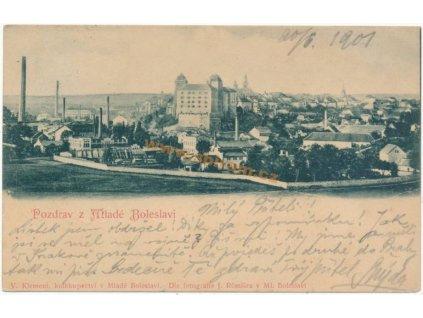 36 - Mladá Boleslav, celkový pohled, nákl. V. Klement, cca 1901