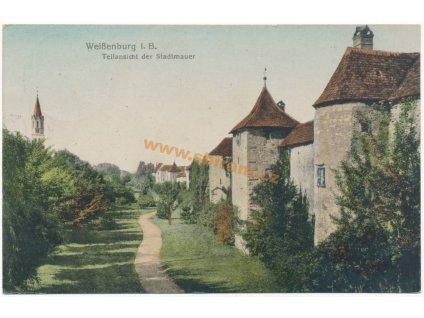 D – Weissenburg in Bayern, Stadtmauer, ca 1919