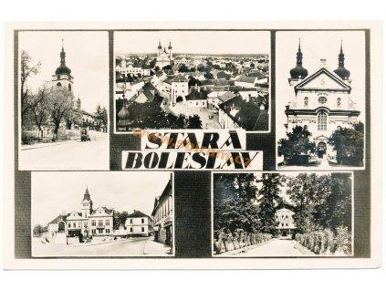 36 – Mladá Boleslav, záběry města, ca 1945