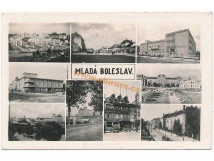 36 – Mladá Boleslav, záběry města, ca 1946