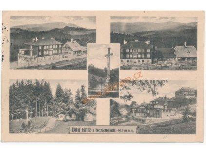 16 - Frýdeckomístecko, Bílý kříž v Beskydech, 5 - ti záběr, cca 1932