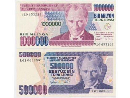 Turecko, 500.000 a 1.000.000 Líra 1970, stav 1