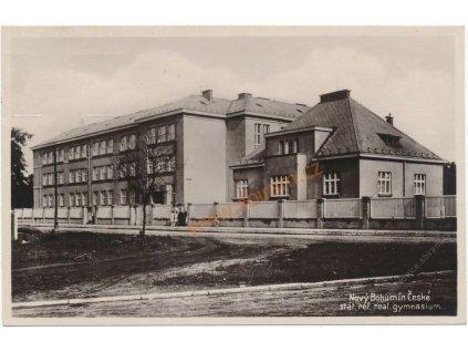 26 - Karvinsko, Nový Bohumín, gymnázium, cca 1935