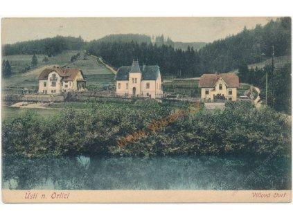 70 - Orlickoústecko, Ústí nad Orlicí, Vilová čtvrť, cca 1914