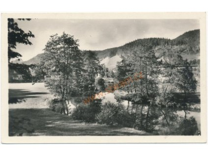 70 - Orlickoústecko, Ústí nad Orlicí, partie u lesa, cca 1960