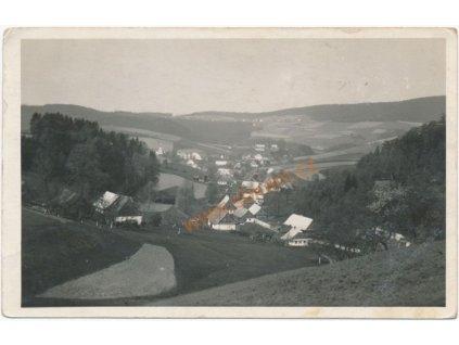70 - Orlickoústecko, Těchonín v Orl. horách, nákl. J. Filip, cca 1935